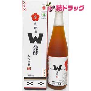 乳酸菌W発酵もろみ酢720ml×12本【送料無料】