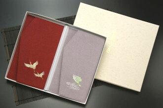 chirimen刺綉錢封小方綢巾吹的紅色以後吹,安排包對應可的禮簽紙的毛筆代筆免費吹,小方綢巾結婚打扮得漂亮,可愛的紅白喜事