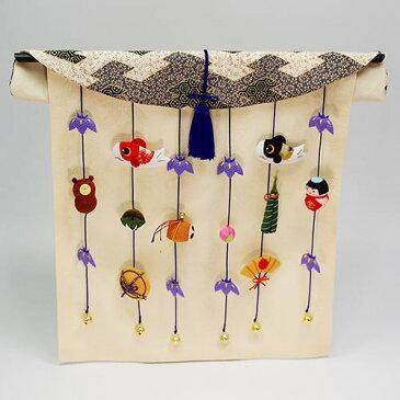 五月人形 道具 五月人形用小道具 端午吊り飾り几帳 オリジナル 五月人形 を演出 ちりめん 五月人形 兜 兜飾り コンパクト 初節句 収納飾り 端午の節句 リュウコドウ