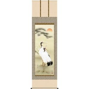 Hanging scroll (hanging scroll) Shochiku Ume Tsurugame Ono Yosaku Shakugochi About 54.5cm × 190cm in height [ Free shipping] g4664