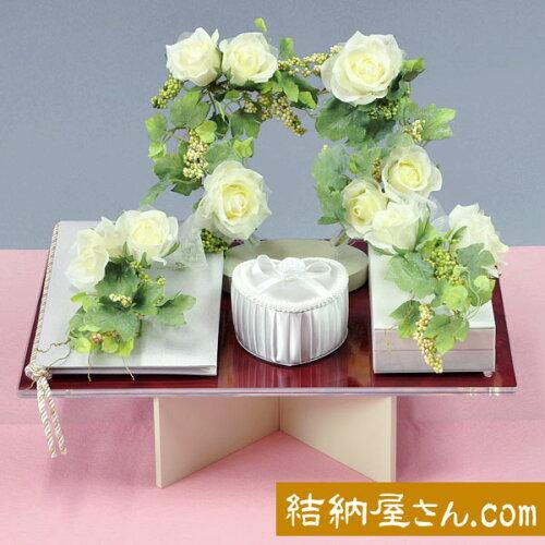 結納-略式結納品- Flora Crystal Ivy 基本セット (毛せん付)
