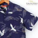 アロハシャツ TORI RICHARD トリリチャード鶴/和...
