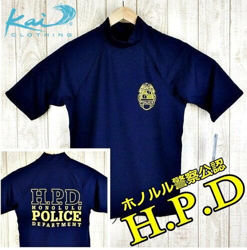 ダークブルー紺/H.P.D半袖水着HPD/ハワイ仕入...