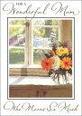 グリーティングカード【マザーズデイ/母の日】「窓辺の花瓶」【封筒サイズ/133×185mm(定形外)】【カードサイズ/127×176mm】【封筒の色/白】【中面/文字あり「Happy Mother's Day」】【箔押し加工あり】(VMGH0003)