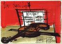 ポストカード 【アート】ビュフェ「ヴァイオリンのある静物」【148×105mm】(VD9295)