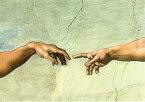 ポストカード 【アート】 ミケランジェロ「アダムの創造(部分図)」【148×105mm】(VD8614d)