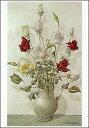 ポストカード 【アート】 藤田嗣治「花瓶のバラ」【148×105mm】(VD8618)