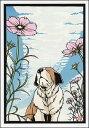 ポストカード 【イラスト】 高木亮/切り絵の世界「秋桜」