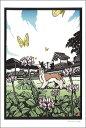 ポストカード 【イラスト】高木亮/切り絵の世界「陽のあたる場所(Ver2)」【148×100mm】(RT-128)