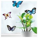 雑貨【ウィンドウステッカーS/立体】(ステッカータイプ)「3Dの蝶」窓ガラス透明シートかわいいおしゃれインテリアフランス製