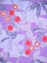 ゆかた SY-140 紫・ブルー地・アザミ柄 3