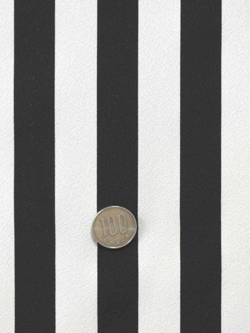 棒縞小紋 kk-65  白黒地・反物:浴衣・着物の反物(生地)の堀田
