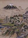 メンズ額裏生地 gu-9 薄茶地・富士山柄