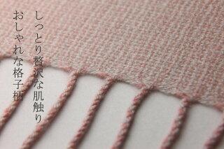 【カシミヤ100%】【全6色】格子柄大判ショール★赤字価格でご提供!超目玉セール