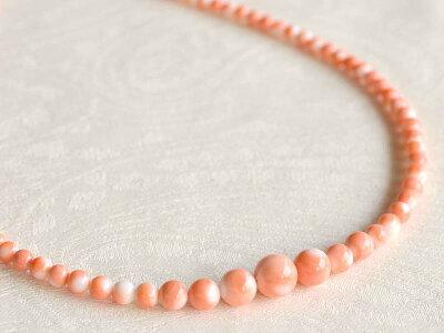珊瑚丸珠ネックレス