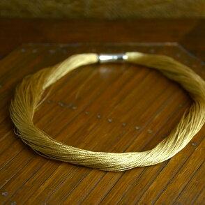 シルキーチョーカーネックレス(ゴールドカラー)