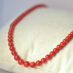日本産赤珊瑚ネックレス