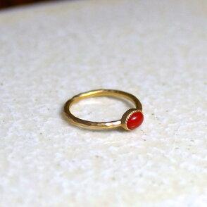 K10血赤珊瑚オーバルリング