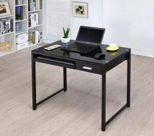 ガラスパソコンデスクPCX-228TK-BK机卓上パソコンラック卓上パソコンラックコンビューターデスクデスクトップノート型