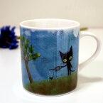 【猫のマグカップ】青猫ラピス マグカップL 地球にやさしく★Ayumi(アユミ) Blue World(ブルーワールド)(猫雑貨 ネコグッズ キャット)