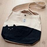 猫のバッグ スナップ付き2WAYトートバッグ 黒猫【ドゥミキャット】(ショルダーバッグ)(フレンズヒル 猫雑貨 猫グッズ ネコ雑貨 ねこ柄 キャット)
