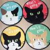 まんまる猫のチェアパッド(シートクッションチェアシート座布団)【大西賢製販】(あったかグッズ猫雑貨猫グッズネコ雑貨ねこ柄キャット)