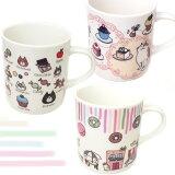 【猫のマグカップ】Cat Chips(キャットチップス) Sweets×2(スイーツスイーツ)【日本製】(吉沢深雪 猫雑貨 ネコグッズ ねこ キャット)