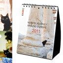 メール便△注意  インテリアにもなるオシャレな黒猫ノロのカレンダー2011年 ヨーロッパを旅...
