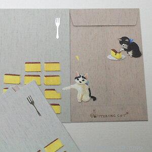 メール便○OK 遊び心が楽しいぽち袋ポタリングキャット★猫ポチ袋 カステラと猫 (猫雑貨 猫...