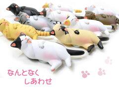 メール便×NG まったり幸せ【在庫限り】まんぷく笑み猫 マグネット (猫雑貨 猫グッズ)