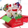 【猫のクリスマスカード】立てて飾れる立体グリーティングカード白猫ターチャンChristmasPRESENTBOXCARD(Xmasカード)(封筒付きフレンズヒル猫雑貨猫グッズネコ雑貨ねこ柄キャット)EC