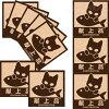 IconCat(やんちゃな子猫シリーズ)ねこケアマークシール【献上品】(パロディシール猫雑貨ネコグッズ)