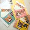 猫のグリーティングカードフェリシモ猫部封筒付き(FORYOU・THANKYOU・HAPPYBIRTHDAY)(メッセージカード猫雑貨ネコグッズねこ柄キャット)EC