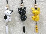 【猫の携帯ストラップ】木製 ゆらゆら お昼寝ストラップ(猫雑貨 ねこ雑貨 ネコ雑貨 猫グッズ ねこグッズ ネコグッズ キャット)