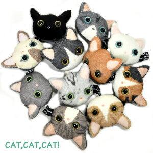 メール便×NG ★個性的な11匹CAT,CAT,CAT! 猫顔 携帯ストラップ 液晶クリーナー付