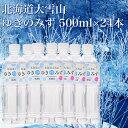 「TV おじゃMAP」で絶賛の水 送料無料 北海道 大雪山 ゆきのみず 500ml×24本 水 みず ホッカイドウ ほっかいどう