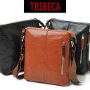 ショルダーバッグ メンズ 革 ブランド 本革 TRIBECA トライベッカ 斜めがけ バッグ 肩掛け 薄マチ 本革 レザー 軽量 メンズ バッグ 小さめ 海外旅行バッグ