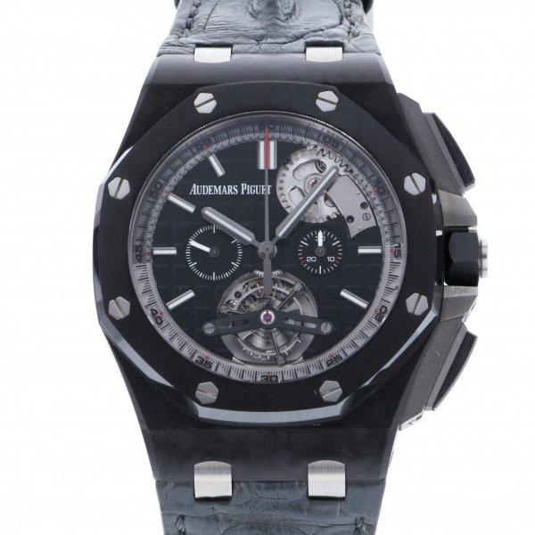 オーデマ・ピゲ AUDEMARS PIGUET ロイヤルオークオフショア トゥールビヨン クロノグラフ 世界限定50本 26550AU.OO.A002CA.01 ブラック文字盤 中古 腕時計 メンズ
