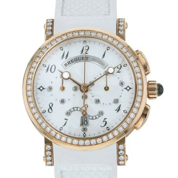 ブレゲ BREGUET マリーン クロノグラフ 8828BR/5D/586 DD00 ホワイト文字盤 レディース 腕時計 【新品】