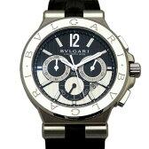 ブルガリ BVLGARI ディアゴノ カリブロ303 DG42BSLDCH ブラック/シルバー文字盤 メンズ 腕時計 【新品】