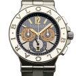 ブルガリ BVLGARI ディアゴノ カリブロ303 DG42C14SWGSDCH グレー/シルバー文字盤 メンズ 腕時計 新品