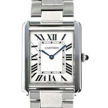 カルティエ CARTIER タンク ソロXL W5200028 ホワイト文字盤 メンズ 腕時計 【中古】