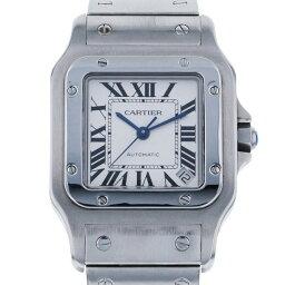 カルティエ CARTIER サントス ガルベ XL W20098D6 シルバー文字盤 メンズ 腕時計 【中古】