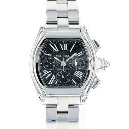 カルティエ CARTIER ロードスター クロノ W62020X6 ブラック文字盤 メンズ 腕時計 【中古】