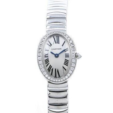カルティエ CARTIER ベニュワール ミニ WB520025 ホワイト文字盤 レディース 腕時計 【中古】