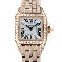 カルティエ CARTIER サントス ミニサントス ドゥ モワゼル WF9011Z8 ホワイト文字盤 レディース 腕時計 【中古】