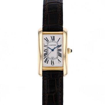 カルティエ CARTIER タンク アメリカン LM W2603156 シルバー文字盤 メンズ 腕時計 【中古】