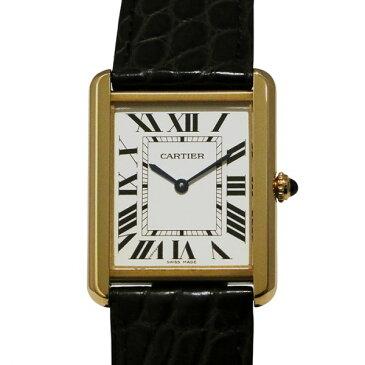 カルティエ CARTIER タンク ソロ LM W5200004 ホワイト文字盤 メンズ 腕時計 【新品】