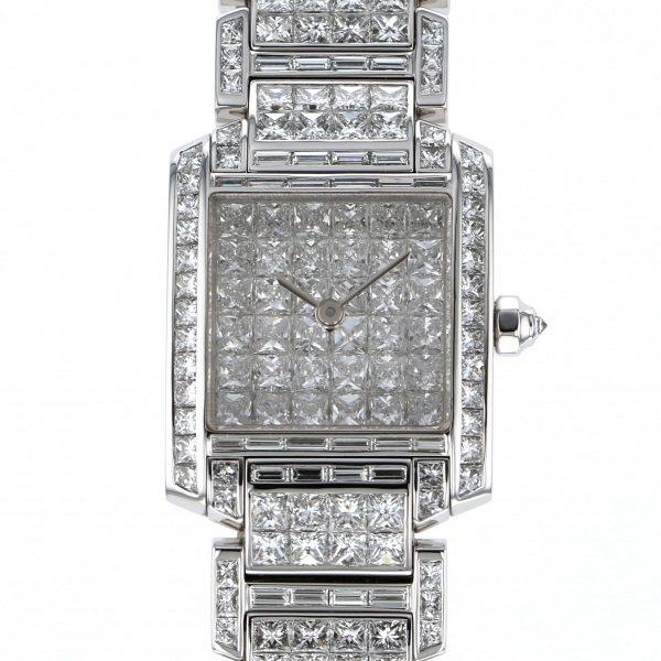 カルティエ Cartier タンク フランセーズSM リビエール WL4073KF 全面ダイヤ文字盤 中古 腕時計 レディース