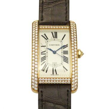 カルティエ CARTIER タンク アメリカン LM WB704851 シルバー文字盤 メンズ 腕時計 【新品】